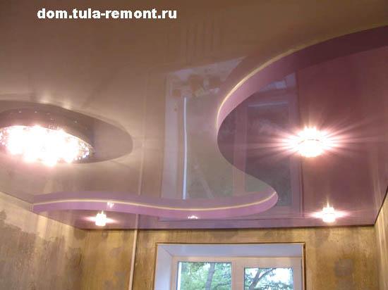 натяжные потолки на кухню 8 кв.м фото